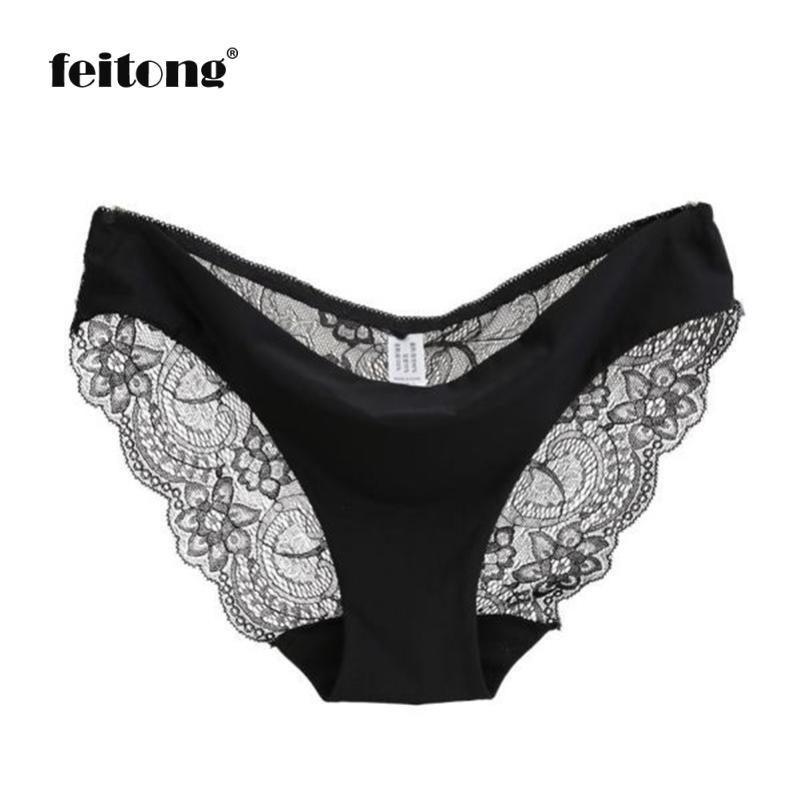 Buy Women lace Panties Seamless Cotton Panty Hollow briefs Underwear Calcinhas Para Mulheres#B02
