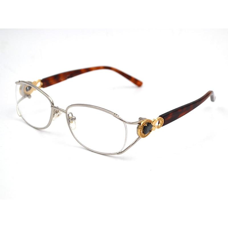 Transparent Glasses Frame Fashion Women Brand Diamond  Computer Myopia Astigmatism Presbyopic Optical Prescription Eyeglasses D5