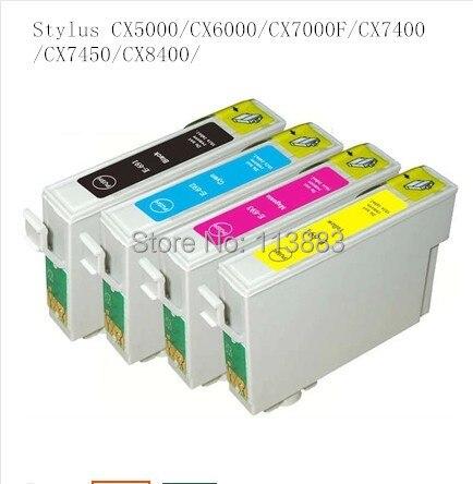 20 чернил 68/69 t0691-t0694 совместимый картридж с чернилами для Epson Стилусы cx5000/CX6000/cx7000f/cx7400/cx7450/CX8400 принтера