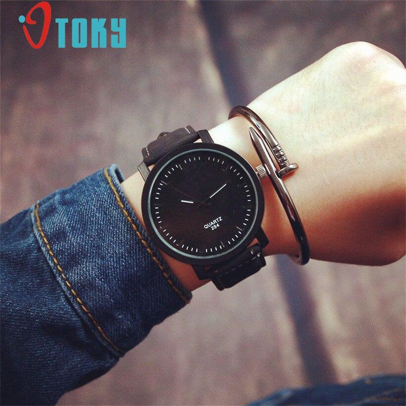 83de5530349c Otoky moda nueva moda reloj hombres mujeres Reloj análogo del cuarzo del  cuero