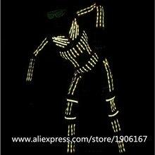 RGB светодиодный световой танец Костюмы свет Костюмы для бальных танцев костюмы EL Провода мигает Костюмы вечерние этап одежда события вечерние поставки