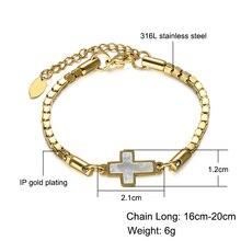 Christian Jewelry Cross Bracelet Titanium Stainless Steel