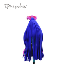 Pink Palms 2017 women summer shoes fringe high heel fuchsia color T ankle strap dress party OL sexy sandals
