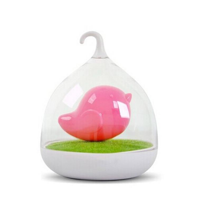 Portable Creative Rechargeable Smart Touch Sensor USB LED Baby Night Light Bird Lamp with Touch Dimmer