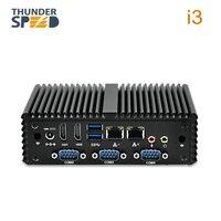 New Coming Intel NUC i3 Mini PC Intel 4005U Computer Windows 4 Serial Port 2 rj45 2 HDMI Support Linux Cheap