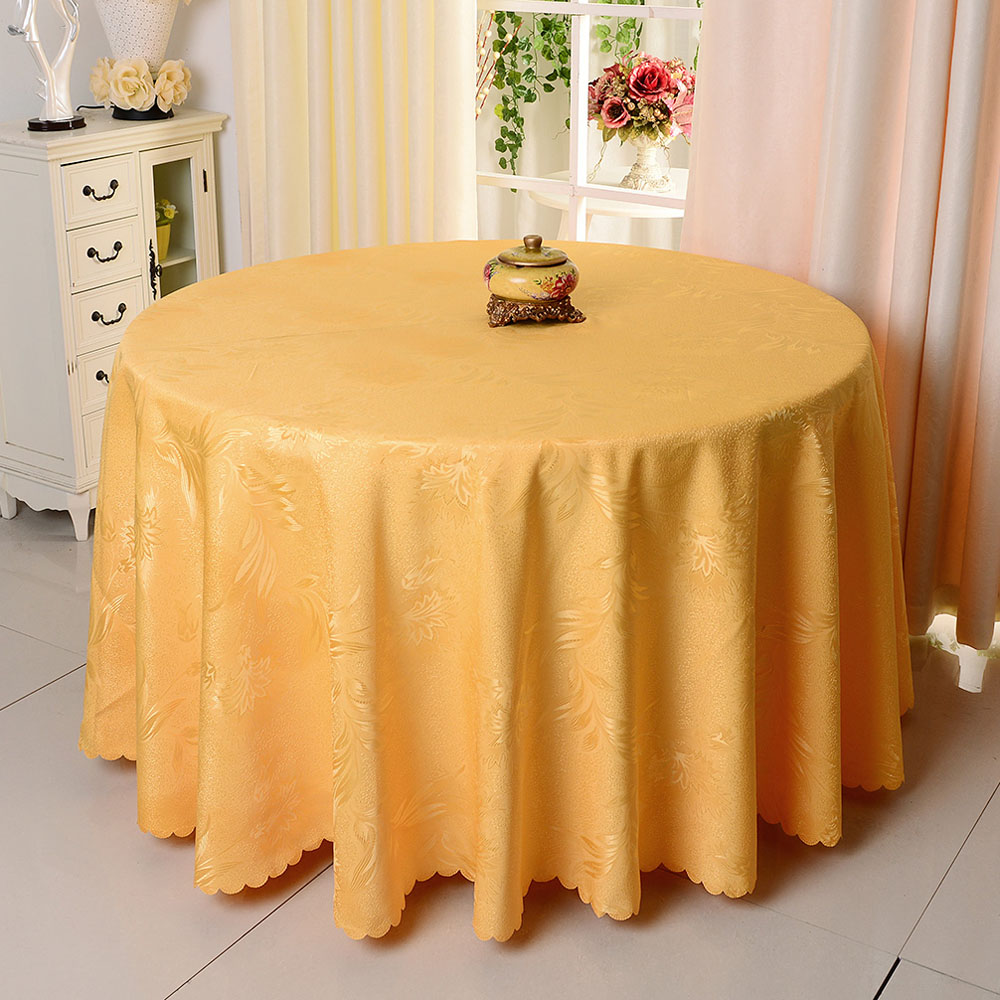 10pcs/lot High Quality Phoenix Flower Polyester Round Tablecloth For ...