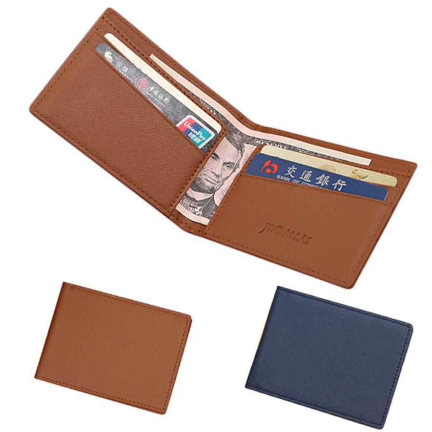 цена Molave Wallet Men Leather Bifold Cards Holder Slim Wallet Money Purse Billfold  Drop Shipping JAN28 онлайн в 2017 году