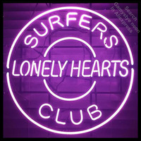 Surpers Lonely Hearts Club Neon Sign Brand REAL GLASS Tube BEER BAR PUB Lamp Club Shop Light Sign Display Custom LOGO Design