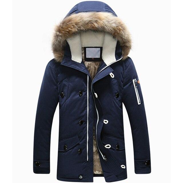 Новый бренд зимняя куртка мужчины 90% белая утка пуховик с капюшоном ветровки мужские пуховик утолщение верхняя одежда куртки пальто