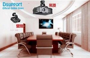 Image 4 - PR01 Aluminum Alloy 360 Degree Universal Projector Mount Bracket Ceiling Wall Hanger Black White