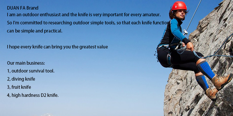 DUAN FA Tactical knife paratrooper knife diving knife outdoor survival camping pocket knife scabbard Plastic and nylon