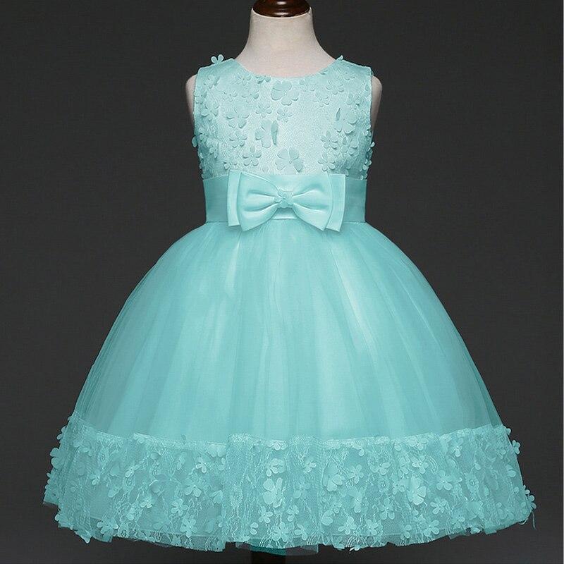 Formal Evening Gown Flower Wedding Princess Dress Girls Children ...