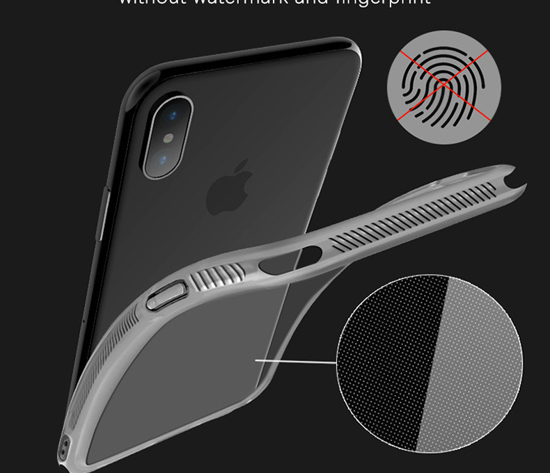 Military grade Anti-knock Case For iPhone X iPhone 7 case soft clear Transparent 2 in 1 TPU+TPE Cover for iPhone 6 6s 7 8 plus (5)