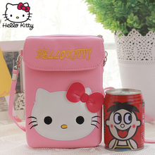 Hello Kitty Kids Plush Walle Children 3D Bag Girls Crossbody Bags Cute Pu Leather Schoolbag Shoulder Plush Lovely 2019 New Style 2017 new style cartoon wallet female hello kitty cute clutches high quality pu