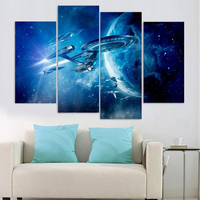 4 Pieces Star Trek Movie Game Poster Wall Art Picture Home Decoration Living Room Canvas Print