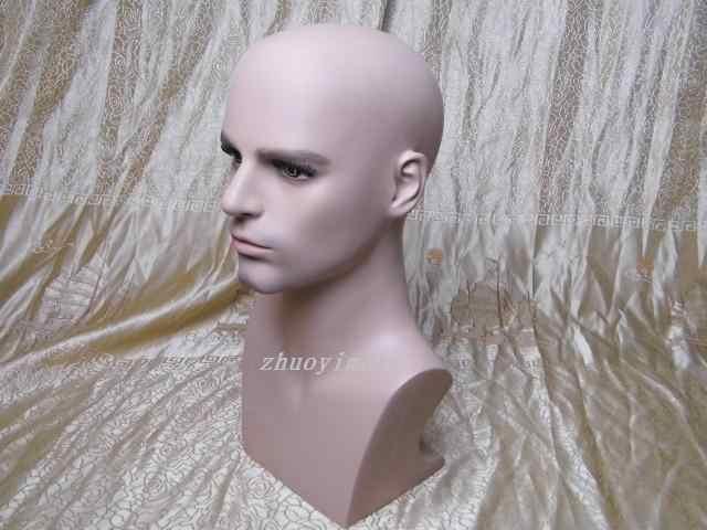 Hohe Qualität Realistische Fiberglas Männlich Mannequin Dummy Kopf Für Hut Perücke Kopfhörer Display Puppe Köpfe