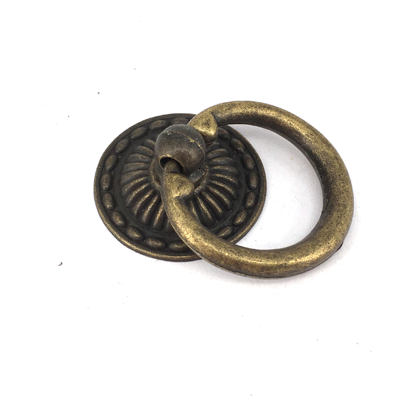 32mm*48mm Shaky drop ring knobs antique brass drawer dresser knob pull bronze kichen cabinet cupboard furniture handles pull