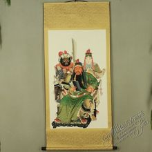 China Antique collection Boutique Calligraphy and painting Guan Gong diagram