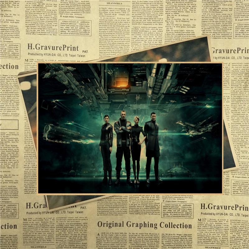 Eve Online Game sci fi space nebula stars spacecraft flight Vintage Kraft Paper poster Wall Decorative Paintings