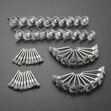 Brosses à fil d'acier à tige de 3mm, 60 pièces, roue de polissage, brosse pour outils, soudage à Mini bavure brossée, meulage de Surface métallique