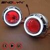 SINOLYN LED Angel Eyes Devil Eye Car Projector Lens Bi Xenon Headlight DRL Kit For Car