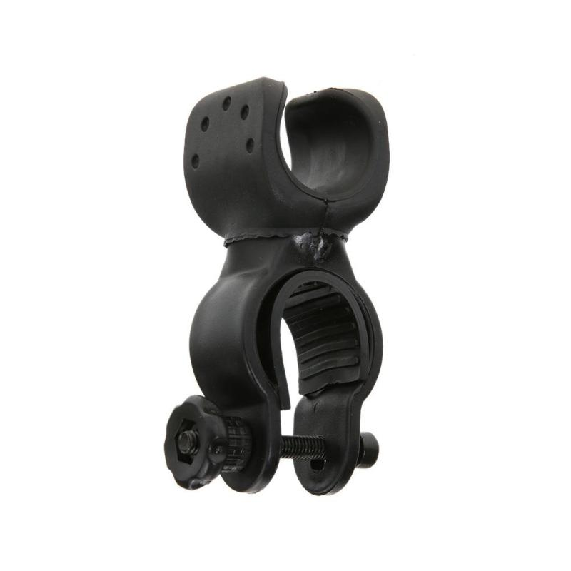2.5 360 Torch Clip Mount Bicycle Headlight Bracket Flashlight Clip Non-slip Rubber Gasket Rotating Lamp Clip Bicycle Accessories