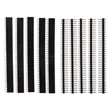 40 Spille 1x40 Singola Riga Maschio e Femmina 2.54 Fragile Spille Header PCB JST Connettore Strip per Arduino nero(China)