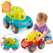 Baby Plastic Non-toxic Colorful Animals Hand Jingle Shaking