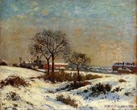 canvas art Landscape under Snow Upper Norwood Camille Pissarro oil painting reproduction High Quality Handmade