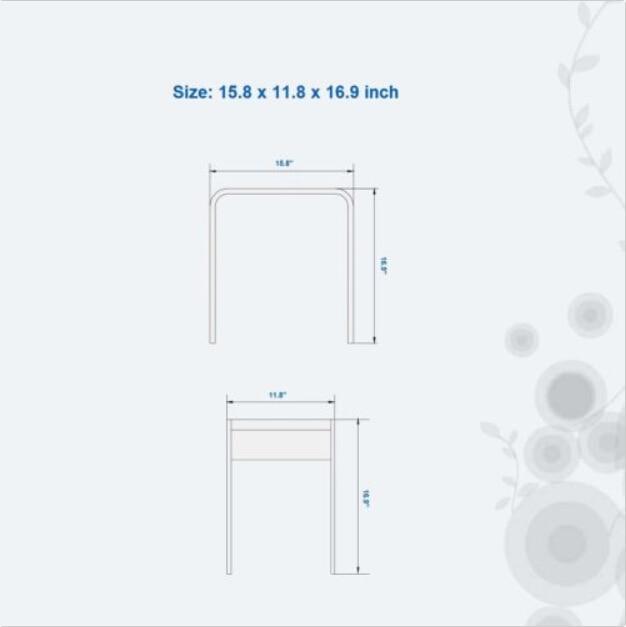Trdni površinski kamen majhna kopalniška stopnica stolček klopi - Pohištvo - Fotografija 6