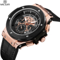 2017 Megir Gold Chronograph Men Clock Watches Men Luxury Brand Big Bang Wrist Watch Men Male Sports Military Watch Reloj Hombre