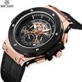 2017 megir chronograph homens relógio relógios homens marca de luxo de ouro Big Bang Relógio de Pulso Homens Esportes Masculino Relógio Militar Reloj Hombre