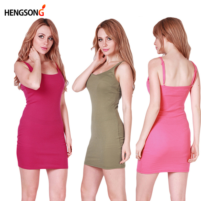 Fashion Women Sexy Backless Basic Dresses Sleeveless Slim Vestidos Vest Tanks Bodycon Dress Strap Solid Party Dress NQ657420 5