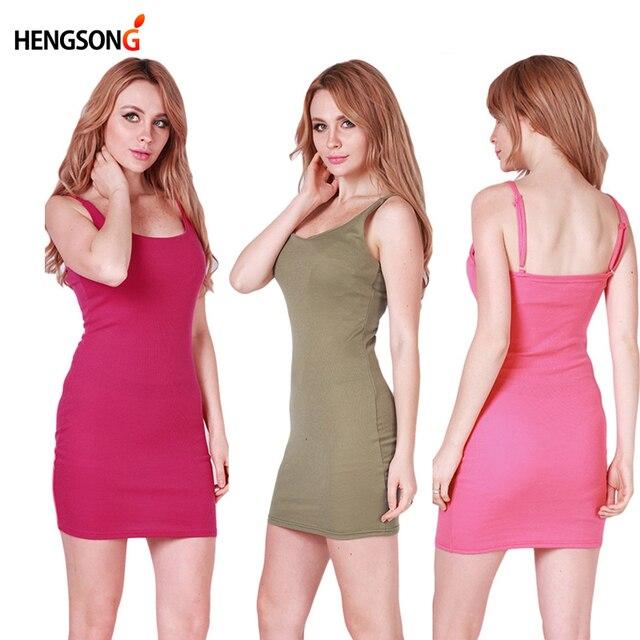 Fashion Women Sexy Backless Basic Dresses Sleeveless Slim Vestidos Vest Tanks Bodycon Dress Strap Solid Party Dress NQ657420
