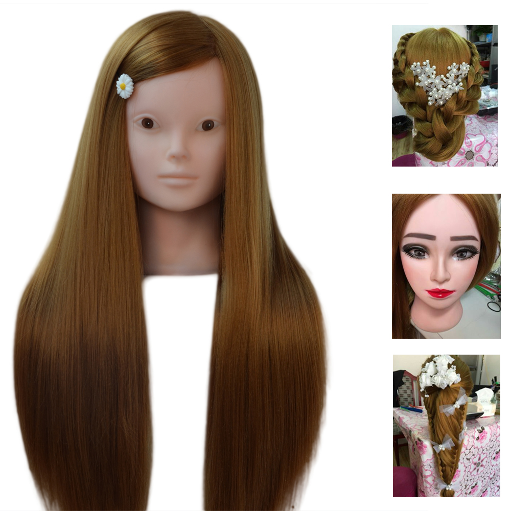 More Function Mannequin Head Makeup Practice Head Thick Hair Training Head Without Makeup Manikin Head hairdressing dolls head