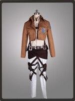 Атака на Титанов Shingeki no Kyojin Саша блузка Recon корпус Косплэй костюм mp000995