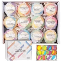 12pcs/box Bath Salt Ball Set Exfoliation Cleaning Pores Anti mite Oil control Bath Bombs Bath Salts Kit
