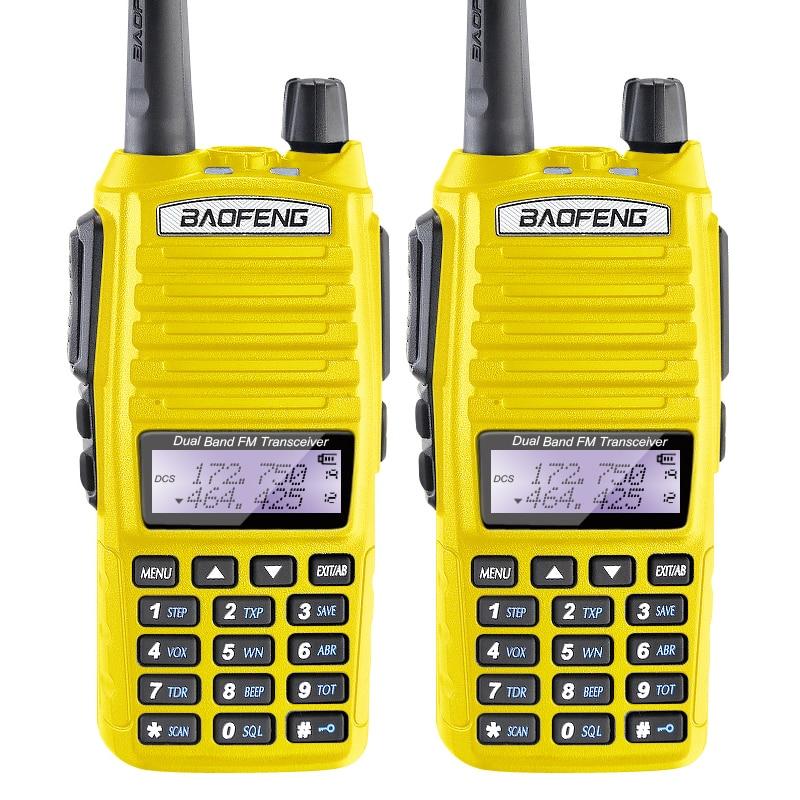 Lot 2 Baofeng UV-82 V//UHF Flashlight Two Way Radio Communication Transceiver