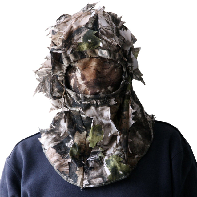 e87754c08e8f9 3D Sneaky Cap Hunting/face Mask Camo Head Net Mesh turkey deer MO face  Hunting stalking one size Woodland cap/hat