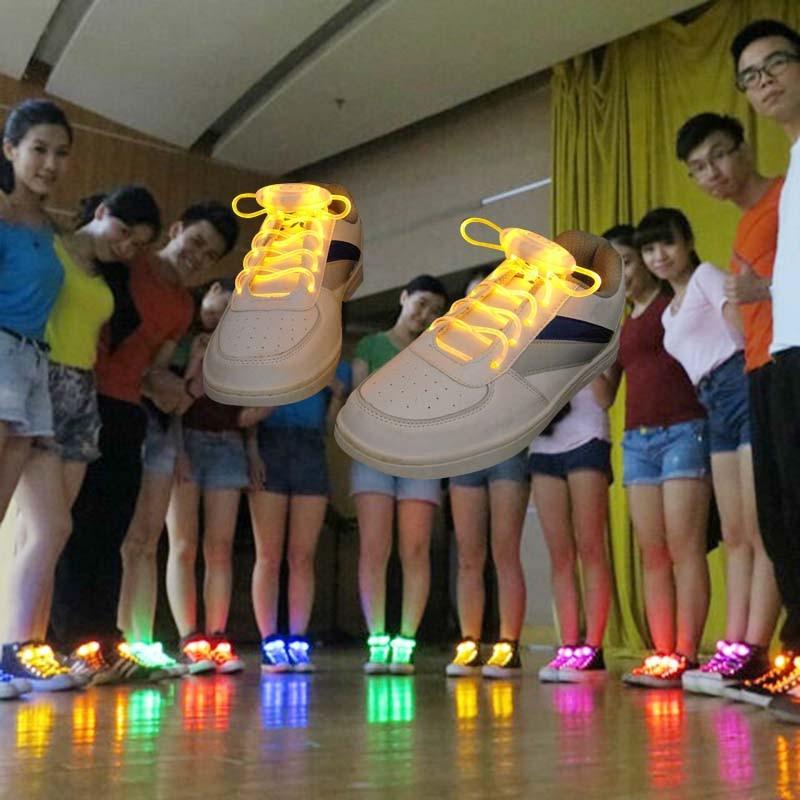 New Fashion Light Laces LED Fluorescent Laces Lazy Laces Multi-color Optional