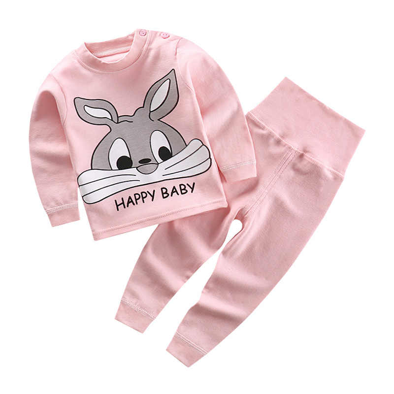 Autumn New Children's High Waist and Belly - Protecting Pants Suit Infant Baby Cotton Autumn Clothing Autumn Pants
