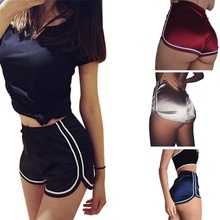 2019 Sexy Outdoor Sport Fitness Yoga Shorts Summer Athletic Ladies Gym Short Hot Trousers  Dropshipping