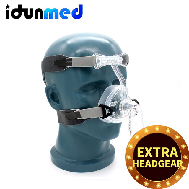 BMC CPAP NM2 Nasal Mask With Adjustable Headgear Strap With Breathing Apparatus Hose For Sleep Apnea Therapy Snoring Stopper