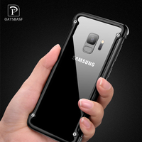 OATSBASF Airbag Metal Case For Samsung Galaxy S9 Personality Airbag Shell For Galaxy S9 Plus Metal