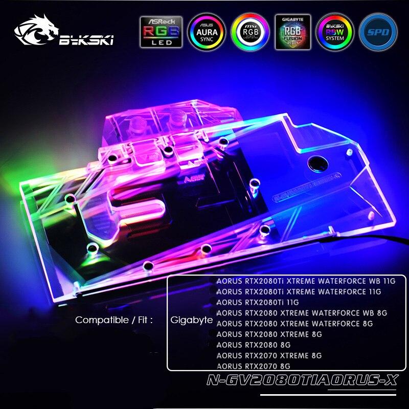 Bykski FR-N-RTX2080TI-X GPU Water Cooling Block for Founders RTX 2080Ti 2080