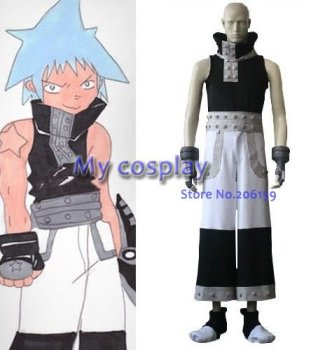Anime Soul Eater Cosplay clothing - Soul Eater Cosplay Black Star Men's Party Costume for Halloween Freeshipping фото
