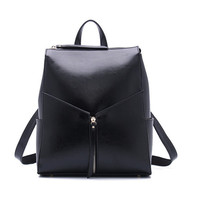 Osmond Feminine Backpack 100% Real Genuine Cow Leather Women First Layer Cow Leather School Book Backpacks Bags Female Mochila