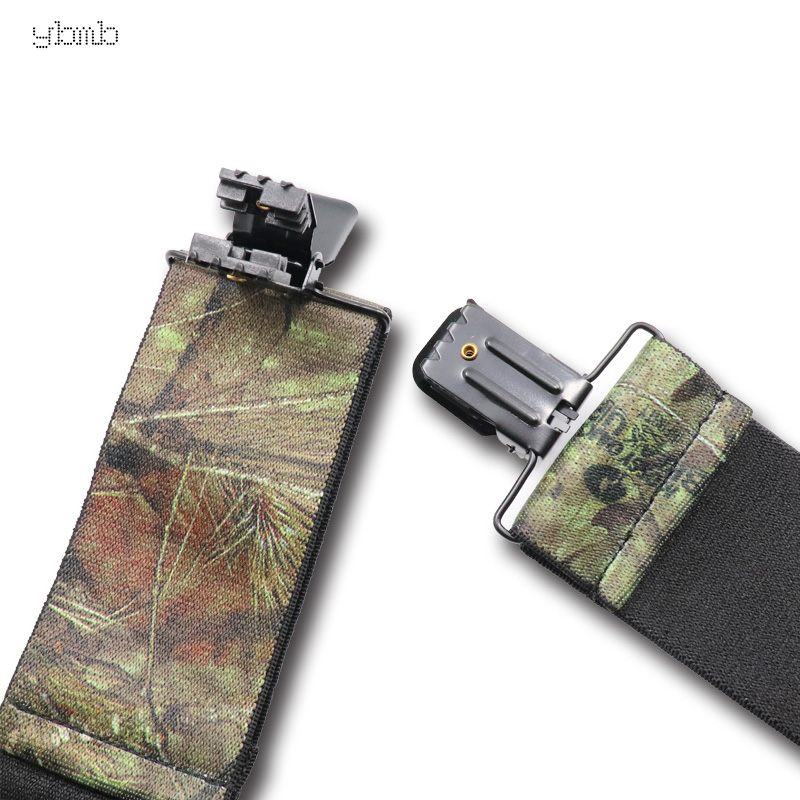 Image 5 - YBMB Fashion Shirt Suspenders Camouflage Print Elastic Tactical Belt X Shape 4 Gun Black Clips on  Bretelles  military 50mmwidth-in Men's Suspenders from Apparel Accessories