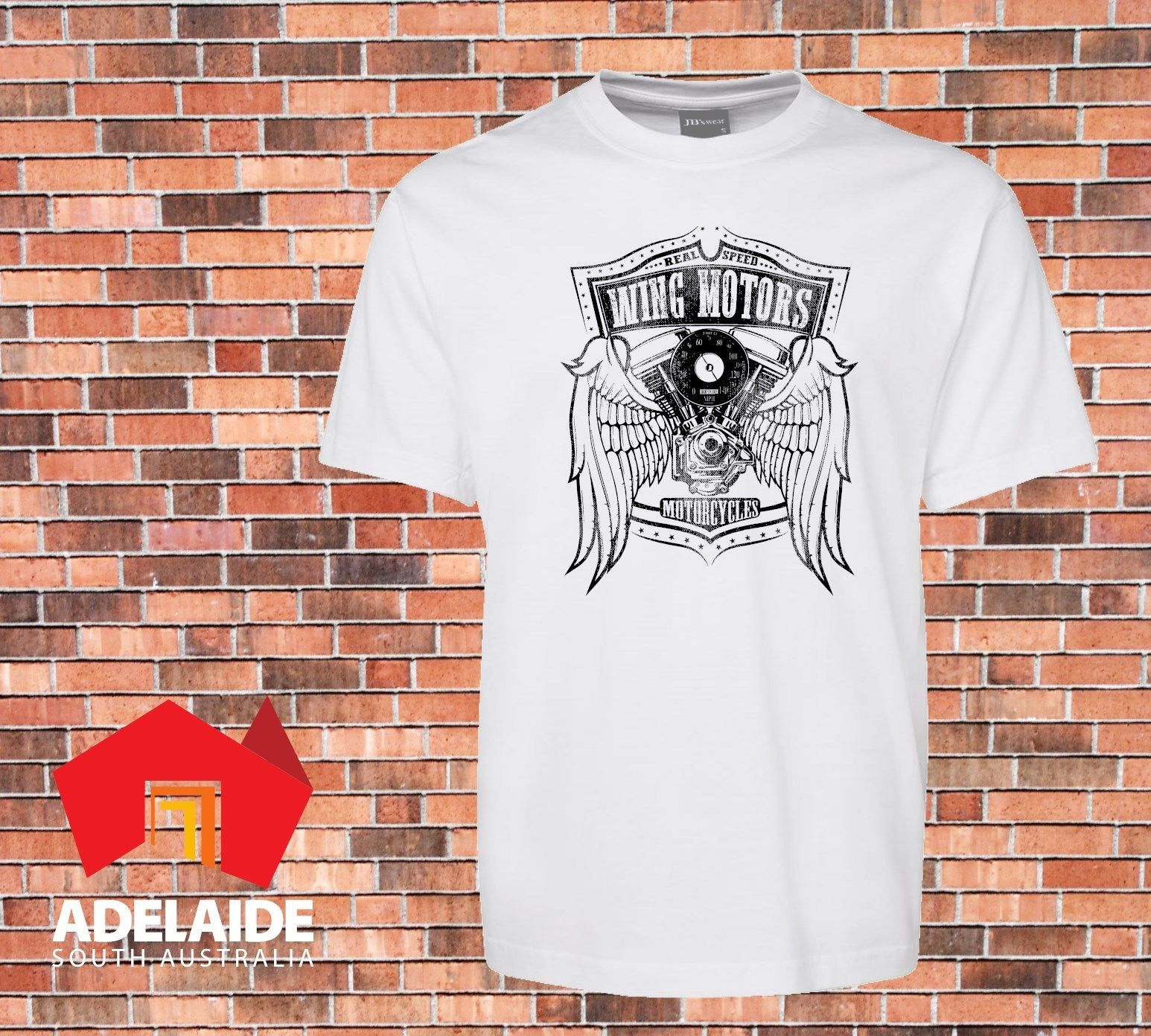 2018 Hot Sale 100% cotton T-shirt Wing motors Motorcycles Cool Vintage Retro Design Sizes to 3XL Tee shirt