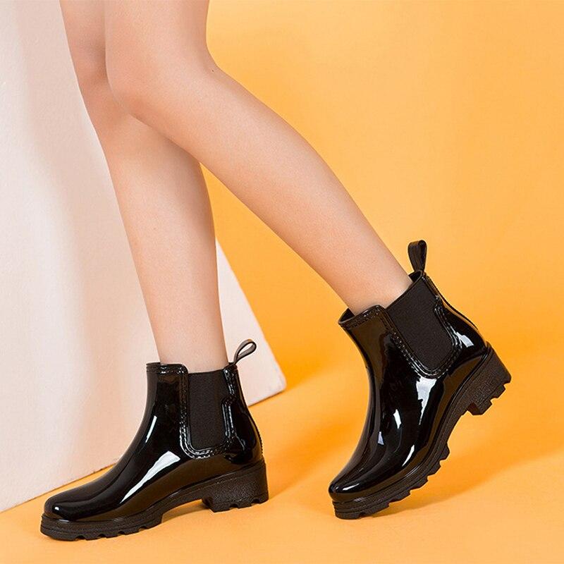 Aliexpress.com : Buy Platform Rain Boots Ladies Patent Leather ...
